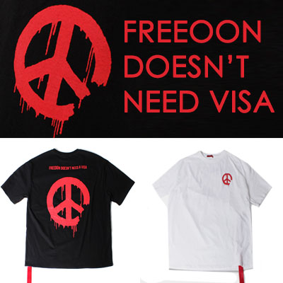 RED PEACEMARK SHORT SLEEVE T-SHIRTS