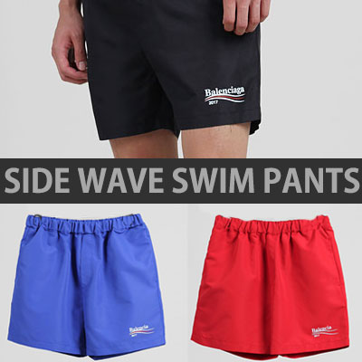 SIDE WAVE LOGO SWIM SHORT PANTS