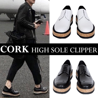 Korean actor kang dongwon st.CORK HIGH SOLE CLIPPER