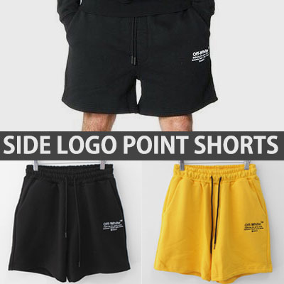 SIDE EMBROIDERY LOGO POINT SHORT PANTS
