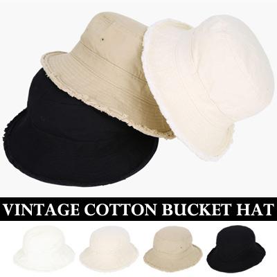 VINTAGE COTTON BUCKET HAT
