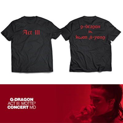 【Official Goods】[MOTTE] G-DRAGON T-SHIRTS TYPE 3(M,L,XL)