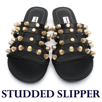 【RANG SHE】[23.0~24.5cm]luxury st. STUDDED SLIPPER