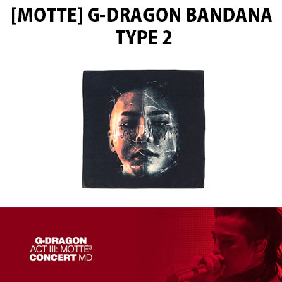 【Official Goods】[MOTTE]G-DRAGON BANDANA TYPE 2