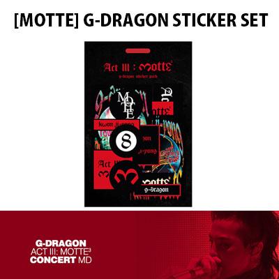 【Official Goods】[MOTTE] G-DRAGON STICKER SET