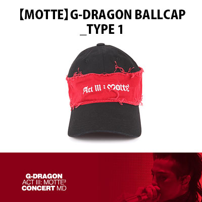 【Official Goods】[MOTTE] G-DRAGON BALLCAP_TYPE1