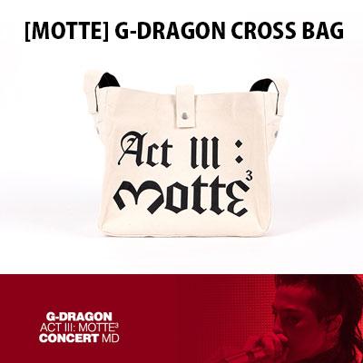 【Official Goods】[MOTTE] G-DRAGON CROSS BAG