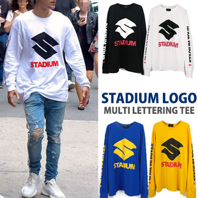Justin Bieber st.STADIUM LOGO AND MULTI LETTERING T-SHIRTS