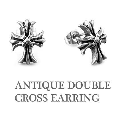 DOUBLE CROSS EARRING (1EA)