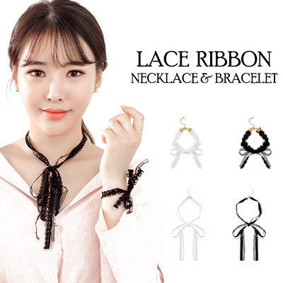LACE RIBBON NECKLACE&BRACELET