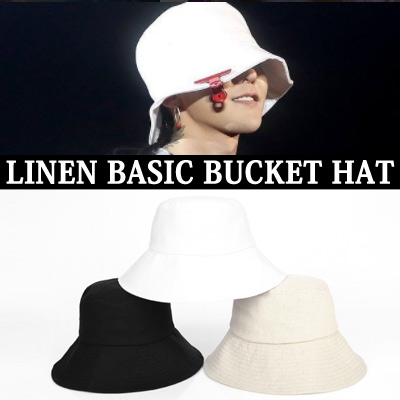 BIGBANG g-dragon/GD/LINEN BASIC BUCKET HAT
