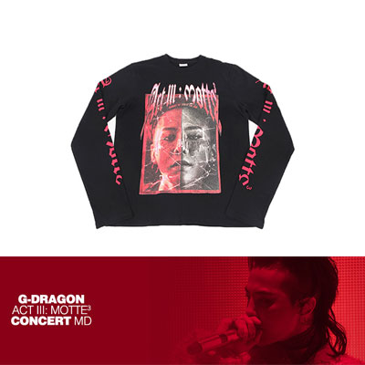 【Official Goods】[MOTTE] G-DRAGON LONG SLEEVE T-SHIRTS_TYPE 2