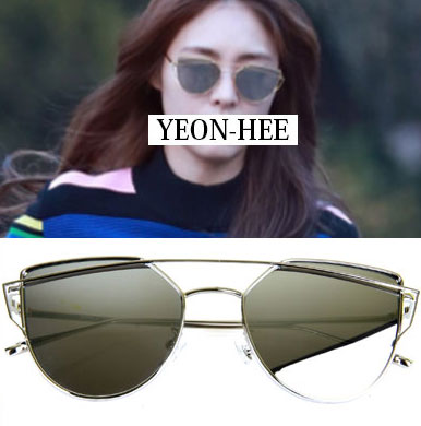 High quality VER! Lee Yeon Hee / Minh Hyo-rin style! Lovely Summer Sunglasses