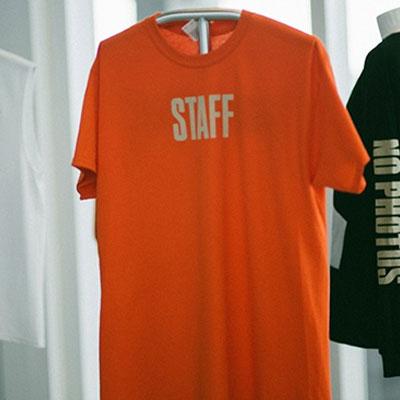 BIEBER STYLE! STAFF MIAMI PRINTING T-SHIRT/ORANGE/L,XL