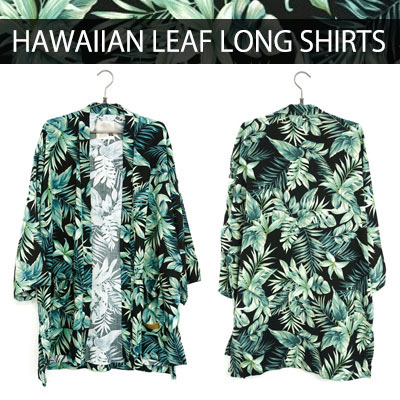 HAWAIIAN LEAF LONG SHIRTS