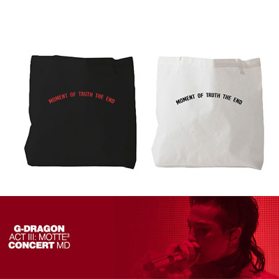 【Official Goods】[MOTTE] G-DRAGON ONE SHOULDER BAG(BLACK/WHITE)