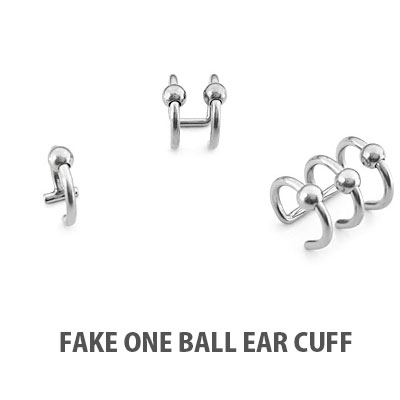 FAKE ONE BALL EAR CUFF/3TYPE(1EA)
