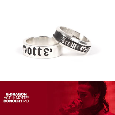 【Official Goods】[MOTTE] G-DRAGON SILVER RING(BIG/SMALL)