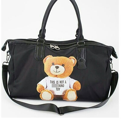 THIS IS NOT A TOY BEAR BOSTON BAG/BLACK