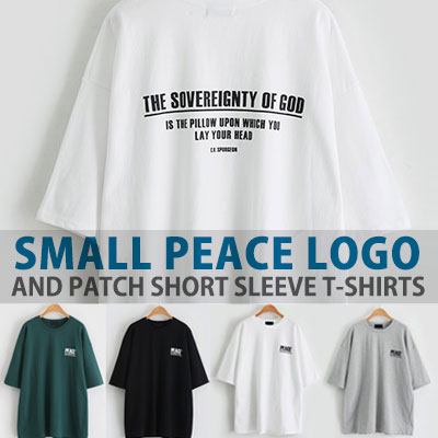 SMALL PEACE LOGO AND PATCH SHORT SLEEVE T-SHIRTS