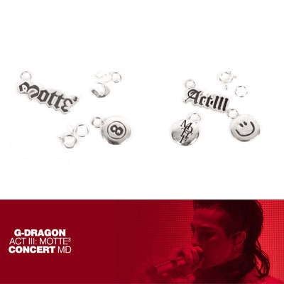 【Official Goods】[MOTTE]G-DRAGON SILVER CHARM SET(ONLY CHARM)