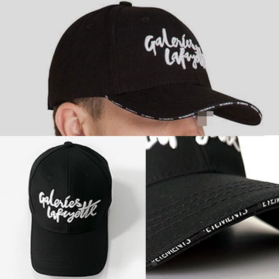LETTERING EMBROIDERY FRONT MULTI LOGO BALL CAP