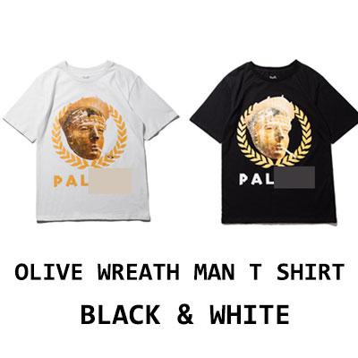 OLIVE WREATH MAN T-SHIRT(BLACK/WHITE)