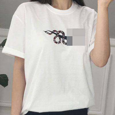 LOGO SNAKE T-SHIRT(BLACK/WHITE)
