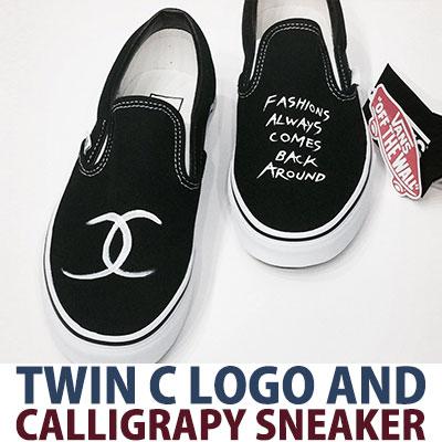VANS original! TWIN C LOGO & CALLIGRAPHY