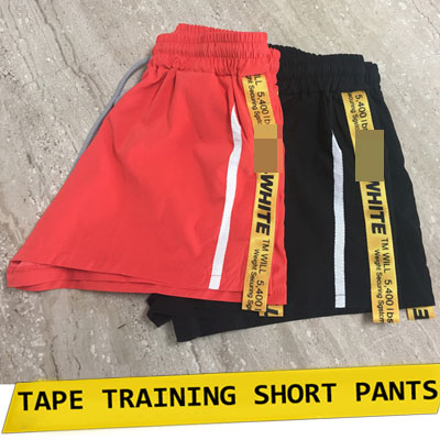 【FEMININE : BLACK LABEL】TAPE TRAINING SHORT PANTS/ORANGE,BLACK