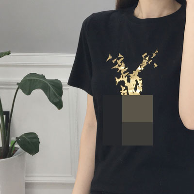 GOLD BIRD LOGO SHORT SLEEVE T-SHIRT(BLACK/WHITE)