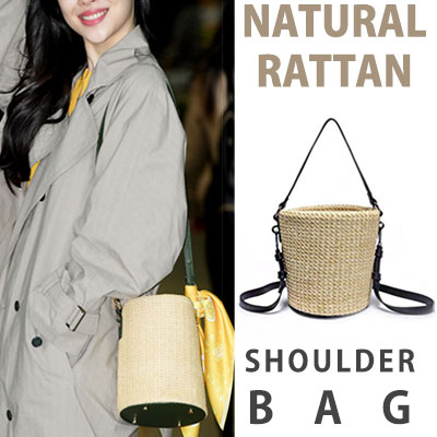 SULLY st. NATURAL RATTAN SHOULDER BAG
