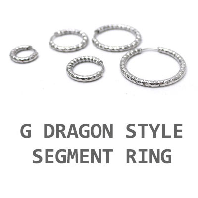 GD STYLE! SEGMENT RING EARRING(7mm~20mm)(1EA)