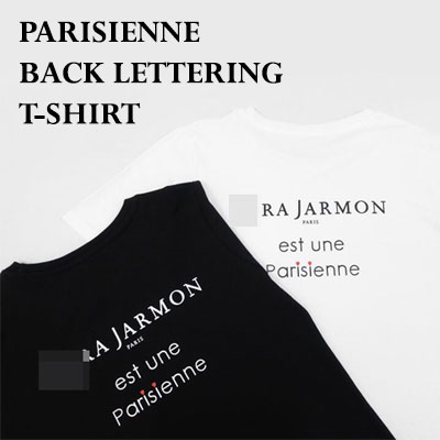 【FEMININE : BLACK LABEL】PARISIENNE BACK PRINT T SHIRT(BLACK/WHITE)