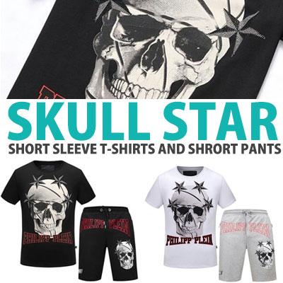 SKULL STAR SHORT SLEEVE T-SHIRTS AND SHORT PANTS