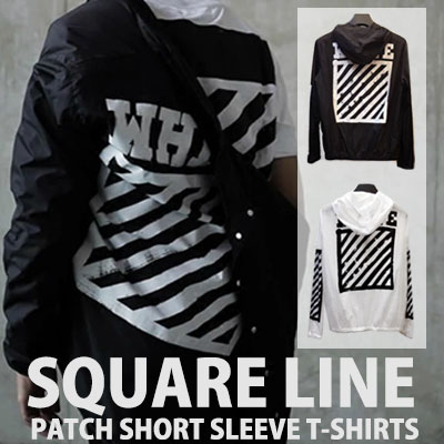 SQUARE LINE WIND BREAKER JACKET