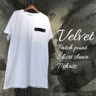 VELVET AND PATCH POINT SHORT SLEEVE T-SHIRTS