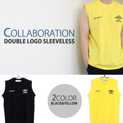 COLLABORATION DOUBLE LOGO SLEEVELESS