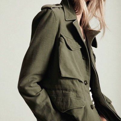 【FEMININE : BLACK LABEL】OVERSIZED MILITARY JACKET(CAMO/KHAKI)