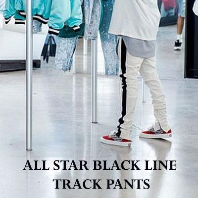 ALL STAR BLACK LINE ZIPPER PANTS/WHITE