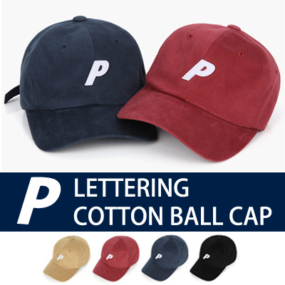P LETTERING COTTON BALL CAP