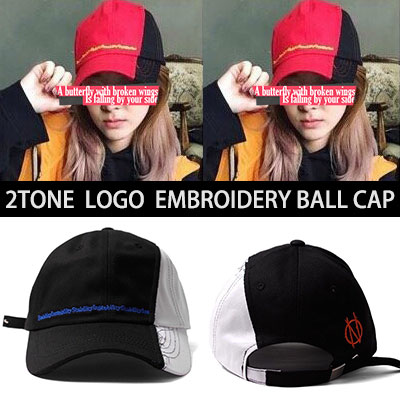 SANDARA st!TWO TONE COLOR EMBROIDERY LOGO BALL CAP