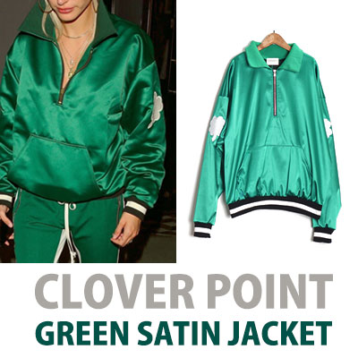 CLOVER GREEN SATIN JACKET