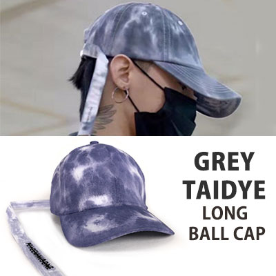 BIGBANG GD,g-dragon st)GREY TAIDYE LONG BALL CAP