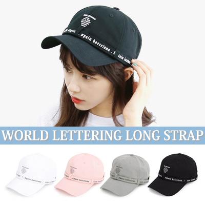 WORLD FAMOUS LETTERING LONG STRAP BALL CAP