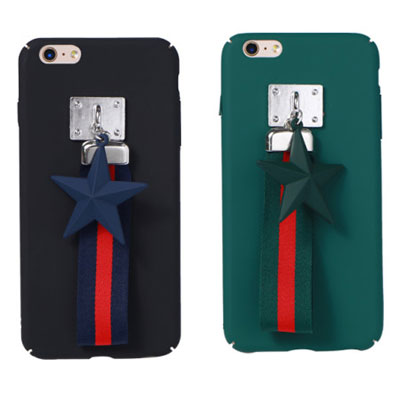 STAR CHARM STRIPE STRAP PHONE CASE