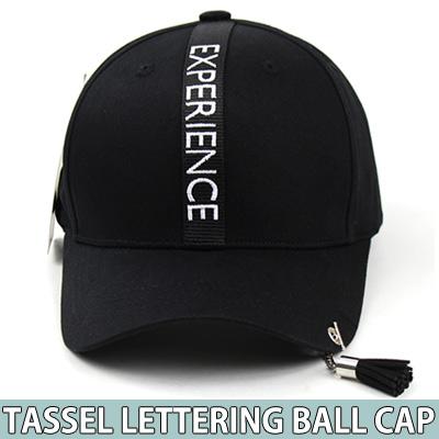 TASSEL CHARM LETTERING BALL CAP
