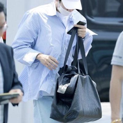 EXO CHAN-YEOL STYLE! BIG SHOPPER BAG(BLACK/GREY)