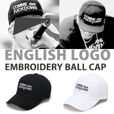 block-b zico st! ENGLISH LOGO EMBROIDERY BALL CAP