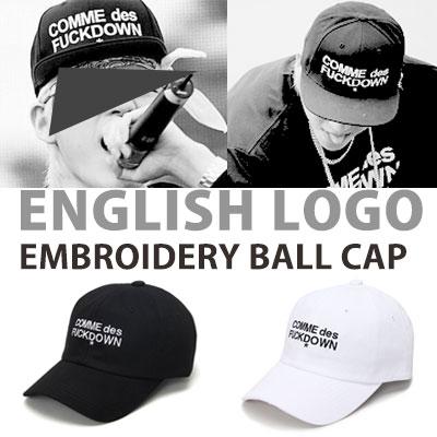 block-b zico st! ENGLISH LOGO EMBROIDERY BALL CAP